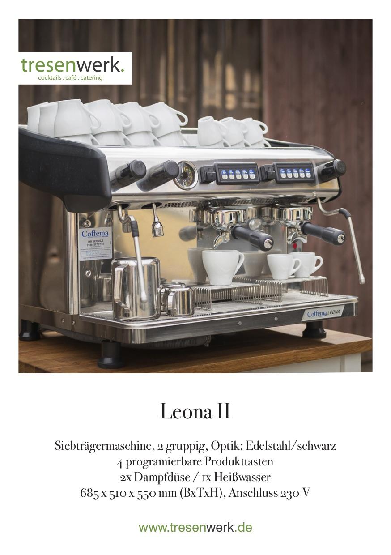 Tresenwerk-Espressomaschine